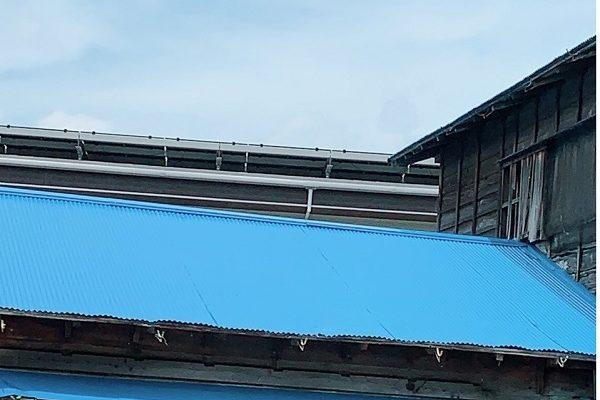 長野県須坂市 屋根塗装 折板屋根 下地処理 日本ペイント パーフェクトトップ ラジカル制御式