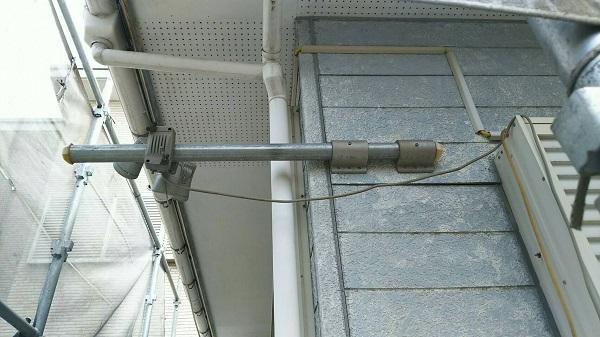 長野県駒ヶ根市 屋根塗装・雨樋交換 竪樋の交換作業 雨樋塗装