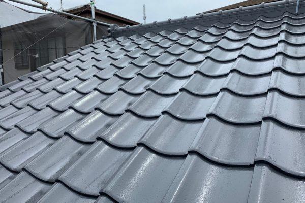 長野県上田市 屋根(セメント瓦)塗装 付帯部塗装 シーリング工事