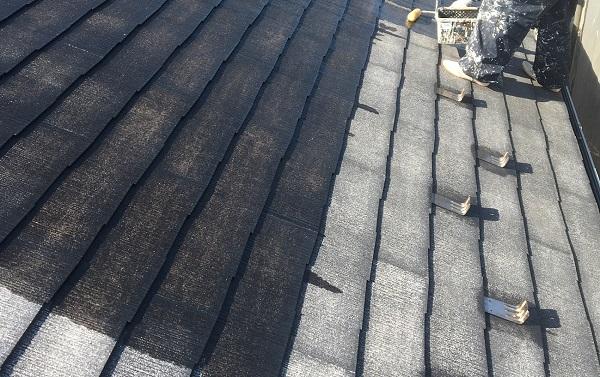 長野県中野市 屋根塗装 縁切り タスペーサー アステック スーパーシャネツサーモ