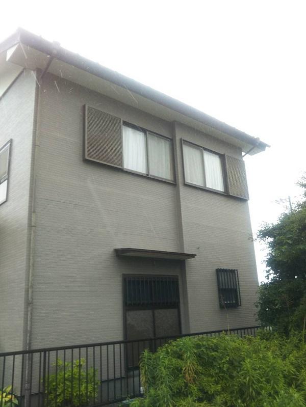 長野県上田市 外壁塗装 現場調査 シーリングの劣化 剥離現象