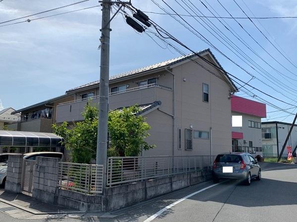 長野県塩尻市 外壁塗装・付帯部塗装 無料調査 チョーキング現象 構造クラック1