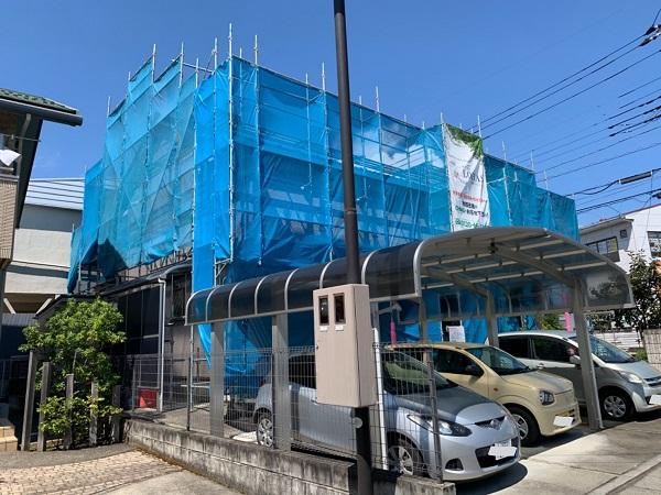 長野県塩尻市 外壁塗装 着工 近隣の方へのご挨拶 足場設置
