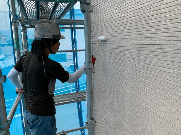 長野県松本市 外壁塗装 外壁の下地処理の工程 ナノコンポジットW (1)