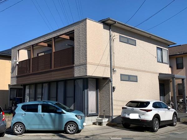 長野県松本市 外壁塗装 無料現場調査 劣化症状 汚れの付着 コーキングに隙間