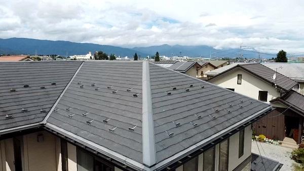 長野県松本市 屋根工事 現場調査 化粧スレート屋根 ひび割れが起きる理由