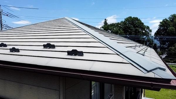 長野県長野市 外壁塗装 屋根塗装 ドローンを使った現場調査 チョーキング現象 (1)